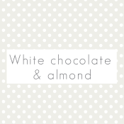 White chocolate & almond